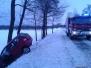 Wypadek na trasie 801 w dniu 30.01.2014